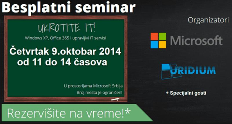 Ukrotite IT seminar