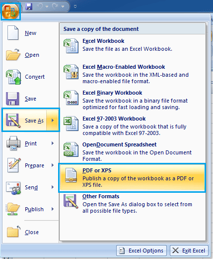 Excel 2007 Pdf